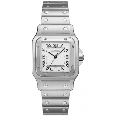 Cartier Classic Santos Stainless Steel Mens Watch W20060D6