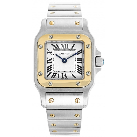 Cartier Classic Santos Steel Yellow Gold Womens Watch W20012C4