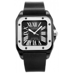 Cartier Santos 100 Titanium Steel Medium Size Watch W2020008
