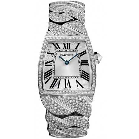 Cartier La Dona 18K White Gold Diamond Ladies Watch WE6001MX
