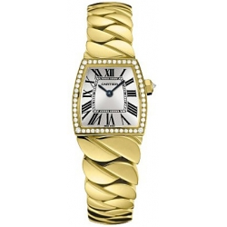 Cartier La Dona Ladies 18K Yellow Gold Diamond Watch WE60040H
