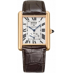 Tank Louis Cartier XL 18K Pink Gold Leather Watch W1560003