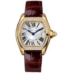 Cartier Roadster Yellow Gold Diamond Womens Watch WE500160