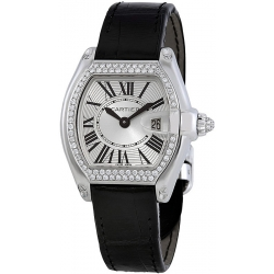 Cartier Roadster Series 18K White Gold Womens Watch WE500260