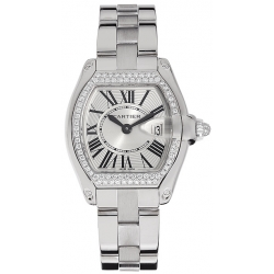 Cartier Roadster White Gold Bracelet Womens Watch WE5002X2