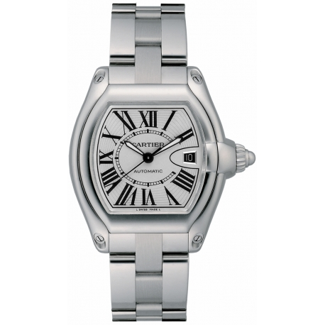 Cartier Roadster Stainless Steel Bracelet Mens Watch W6206017