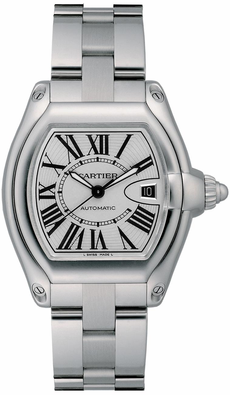 Cartier Roadster Stainless Steel Bracelet Mens Watch W6206017