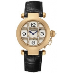 Cartier Pasha Series 18K Rose Gold Womens Watch WJ11963G