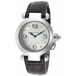 Cartier Pasha Series 18K White Gold Womens Watch WJ11902G