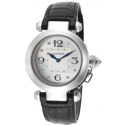 Cartier Pasha Series 18K White Gold Womens Watch WJ11902G