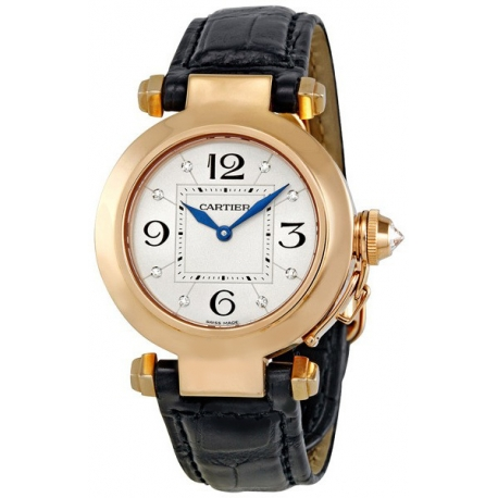 Cartier Pasha Series 18K Rose Gold Womens Watch WJ11913G