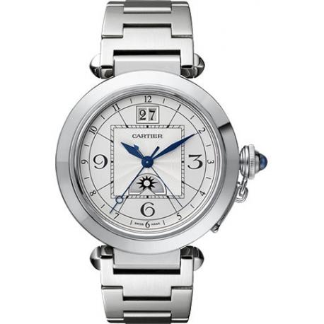 Cartier Pasha XL Steel Bracelet Mens Watch W31093M7