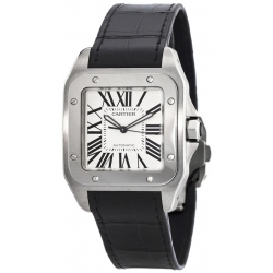Cartier New Santos Stainless Steel Mens Watch W20073X8