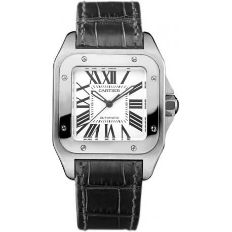 Cartier Santos 100 Medium Size Automatic Steel Watch W20106X8