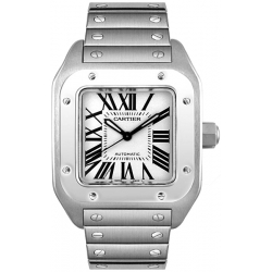 Cartier New Santos Series Steel Bracelet Mens Watch W200737G