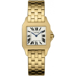 Cartier New Santos Yellow Gold Bracelet Diamond Watch WF9002Y7