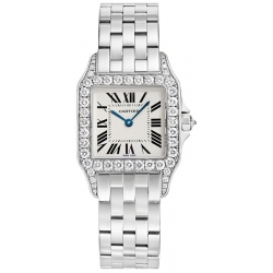 Cartier New Santos White Gold Bracelet Diamond Watch WF9004Y8