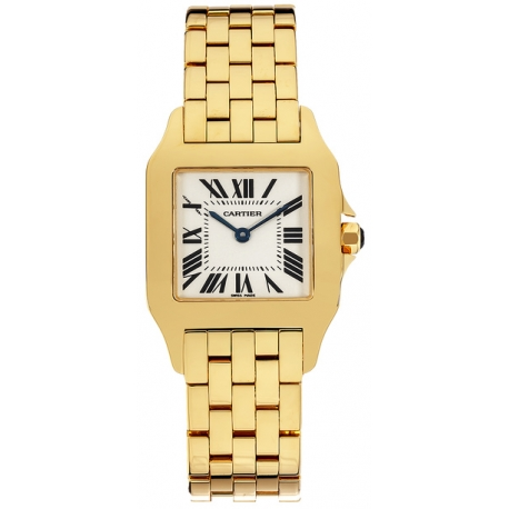 Cartier New Santos 18K Yellow Gold Unisex Watch W25062X9