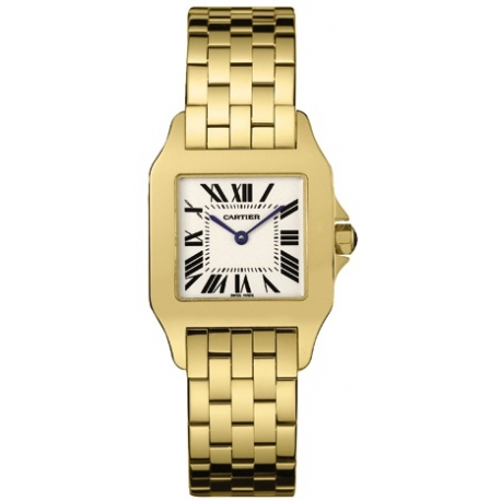 Cartier New Santos Yellow Gold Bracelet Womens Watch W25063X9