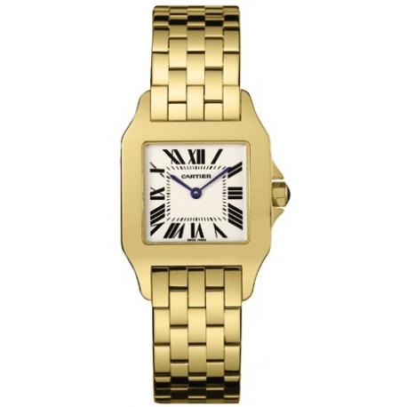 Cartier New Santos Yellow Gold Bracelet Womens Watch W25063X9