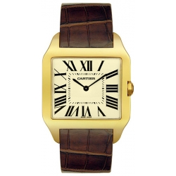 Cartier New Santos Series Yellow Gold Mens Watch W2008751