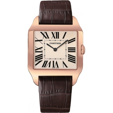 Cartier New Santos Series Rose Gold Mens Watch W2006951
