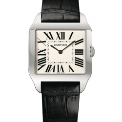 Cartier New Santos Series White Gold Mens Watch W2007051