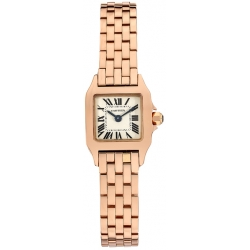 Cartier Santos Demoiselle Rose Gold Mini Ladies Watch W25077X9