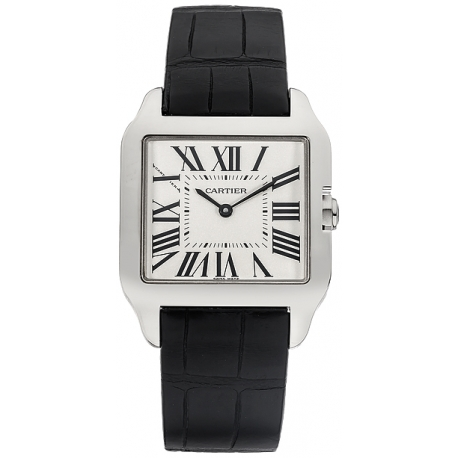 Cartier Santos Dumont Mini Ladies White Gold Watch W2009451