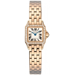Cartier Santos Demoiselle Rose Gold Diamond Watch WF9011Z8