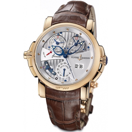 Ulysse Nardin Sonata Cathedral 18K Rose Gold Mens Watch 676-88