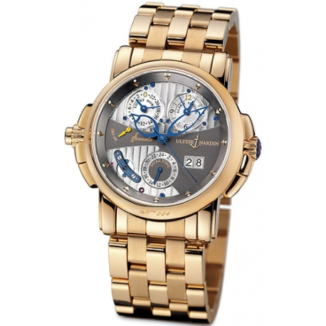 Ulysse Nardin Sonata Cathedral Rose Gold Mens Watch 676-88-8/212