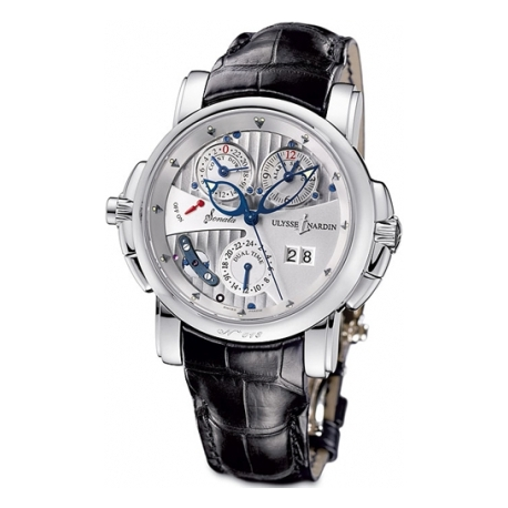 Ulysse Nardin Sonata Cathedral 18K White Gold Mens Watch 670-88