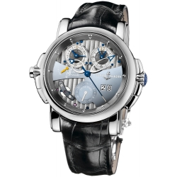 Ulysse Nardin Sonata Silicium White Gold Mens Watch 670-85
