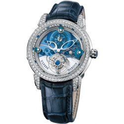 Ulysse Nardin Royal Blue Platinum Tourbillon Mens Watch 799-83