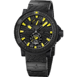 Ulysse Nardin Maxi Marine Black Sea Mens Watch 263-92-3C/924