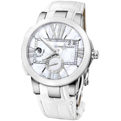 Ulysse Nardin Executive Dual Time Ceramic Watch 243-10/391