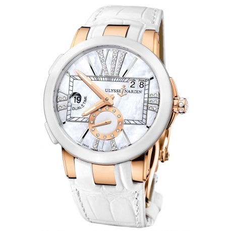 Ulysse Nardin Executive Dual Time Womens Watch 246-10/391