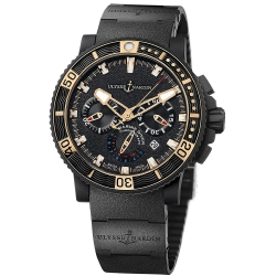 Ulysse Nardin Black Sea Chronograph Rubber Watch 353-90-3C