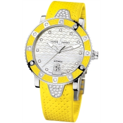 Ulysse Nardin Diver Yellow Womens Watch 8103-101E-3C/10.14