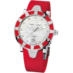 Ulysse Nardin Diver Red Rubber Womens Watch 8103-101E-3C/10.16