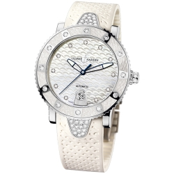 Ulysse Nardin Diver White Rubber Womens Watch 8103-101E-3C/10