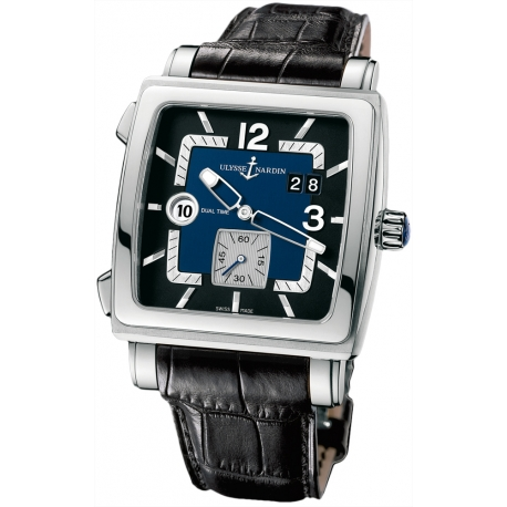 Ulysse Nardin Quadrato Mens Black Dial Watch 243-92/632