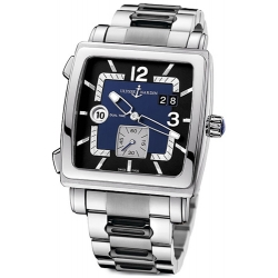 Ulysse Nardin Quadrato Mens Steel Bracelet Watch 243-92-7/632