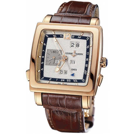 Ulysse Nardin Quadrato Mens 18K Rose Gold Watch 326-90/61