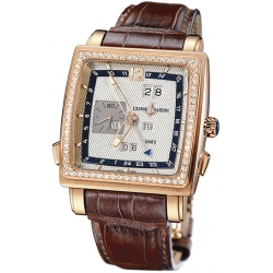 Ulysse Nardin Quadrato Mens Diamond Watch 326-90B/61