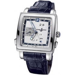 Ulysse Nardin Quadrato 18K White Gold Mens Watch 320-90/61