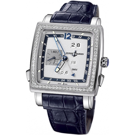 Ulysse Nardin Quadrato Mens Diamond Watch 320-90B/61