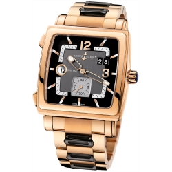 Ulysse Nardin Quadrato Dual Time Mens Watch 246-92-8/692