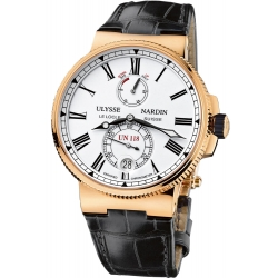 Ulysse Nardin Marine Rose Gold Chronometer Watch 1186-122/40